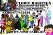 Clown, magicien, sono, dj, artiste