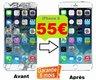Réparation écran IPhone 6 à 55 euro + Protection...