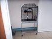 Cage pour perroquet martelée 145x70x45cm en bon...