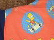 Draps Simpson rouge bleu enfant une personne