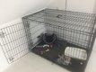 2 Cages pour chien taille moyenne + parc pliable