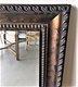 Grand miroir de caractère   cadre noir-or antique