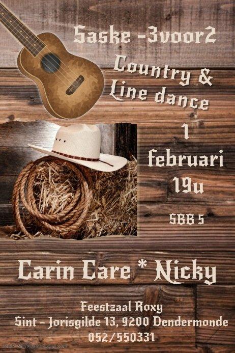 Country & line dance met live optreden van Carin Care & Nicky