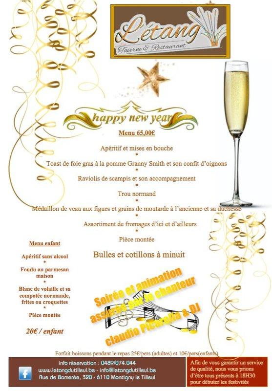 Menu r veillon nouvel an soir e montigny le tilleul - Restaurant lille reveillon nouvel an ...