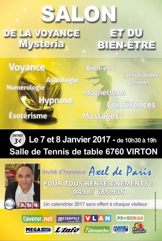 Salon de la voyance et du bien tre virton luxembourg for Salon de la voyance a paris