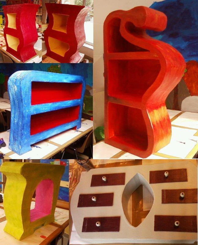 Atelier meubles en carton houffalize for Miroir vagabond