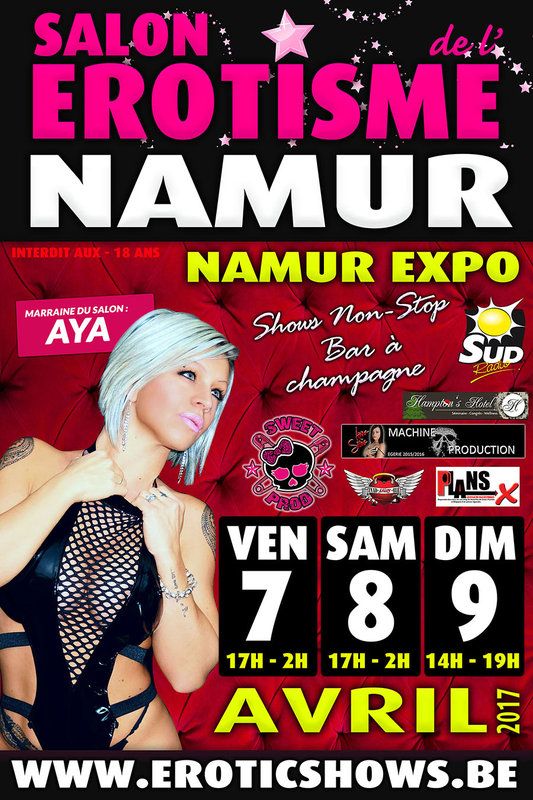 Salon de l 39 rotisme namur for Salon de l erotisme tours