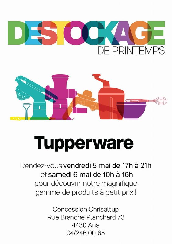 Destockage Tupperware Ans