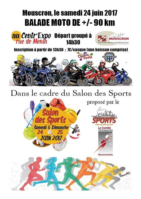 Balade moto du salon des sports mouscron - Salon les charmettes mouscron ...