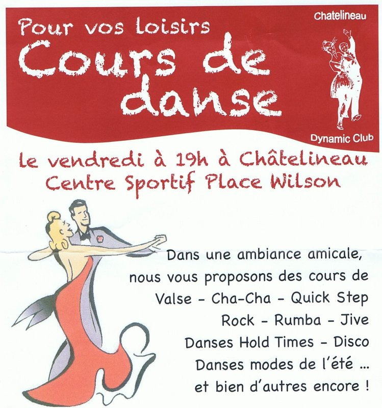 Cours de danse de salon au dynamic club ch telineau for Cours de danse de salon marseille