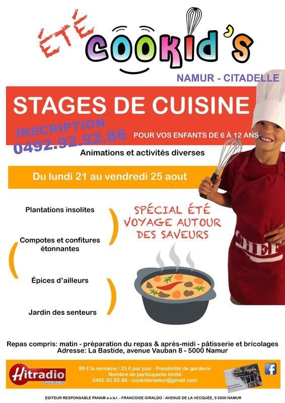 Cookids stage de cuisine pour enfants namur for Stage cuisine enfant