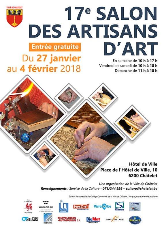 17e salon des artisans d 39 art ch telet for Salon de the chatelet