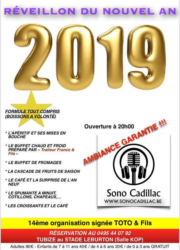 Reveillon Du Nouvel An 2019 Soiree Tubize Quefaire Be