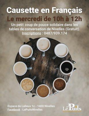 Stages,cours Table conversation Français