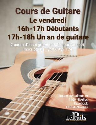 Stages,cours Cours d accompagnement guitare pour débutants