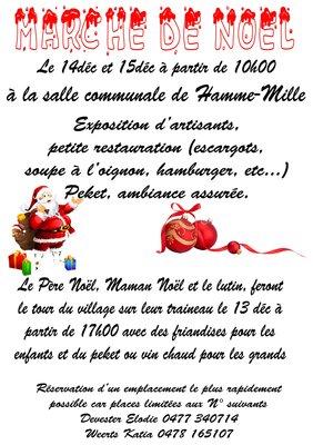 Loisirs 5 marché Noël couvert avec visite papa Noël maman Noël ttles 2 jour