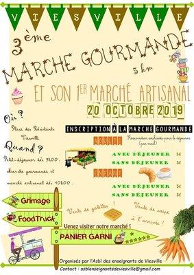 Loisirs 3ème marche gourmande 1er marché artisanal