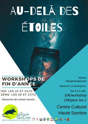 Stages,cours Workshop fin d'année « Au-delà étoiles » (Intergénérationnel)