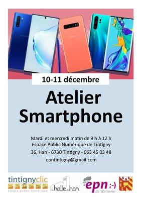 Stages,cours Atelier smartphone