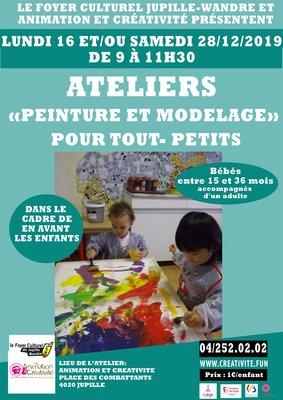 Stages,cours Atelier  peinture modelage  pour tout-petits