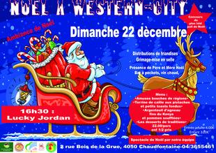 Loisirs Western-city Noël Far west avec Père Noêl Lucky Jordan