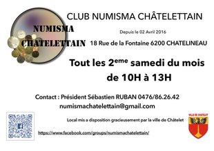 Loisirs Réunion club numismate chateletain