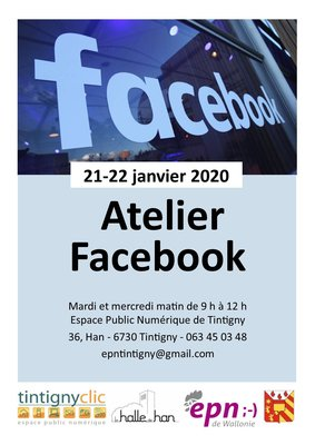 Stages,cours Atelier Facebook