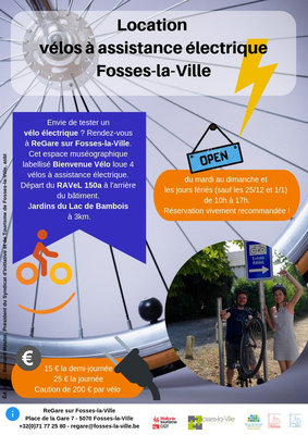 Loisirs Location vélos électriques