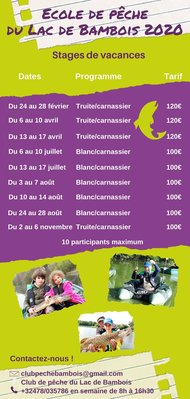 Stages,cours Stage pêche blanc/carnassier