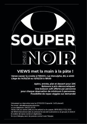 Soirées Soupers dans noir - Dinner the dark