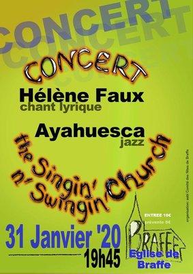 Concerts Concert chant lyrique Hélène Faux Jazz Ayahuesca