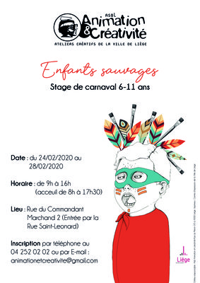 Stages,cours Enfants sauvages