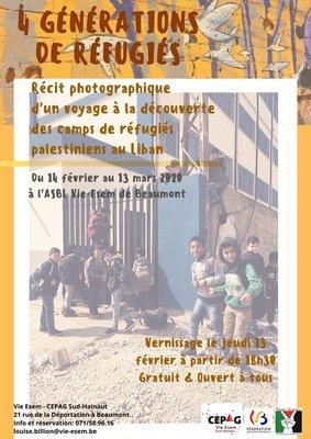Expositions 4 générations réfugiés