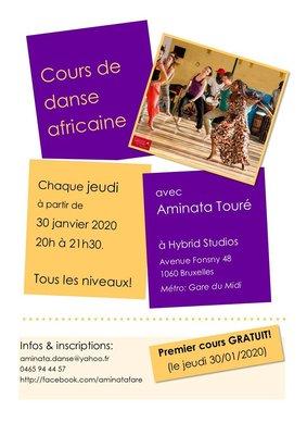 Stages,cours Cours danse africaine avec Aminata Touré (Guinee)