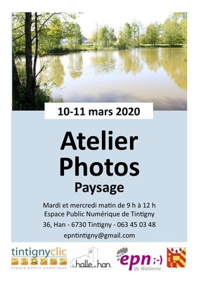Stages,cours Atelier photos: paysages