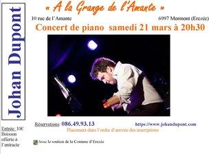 Concerts Concert piano solo:  Johan Dupont
