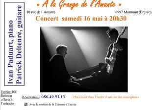 Concerts Concert Ivan Paduart, piano Patrick Deltenre,  guitare.