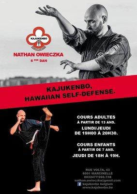 Stages,cours Kajukenbo Hawaiian kenpo self defense Adultes enfants