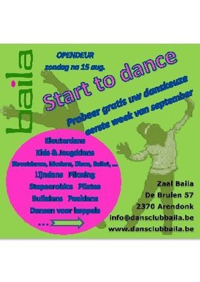 Nachtleven Dansavonden Dansclub Baila