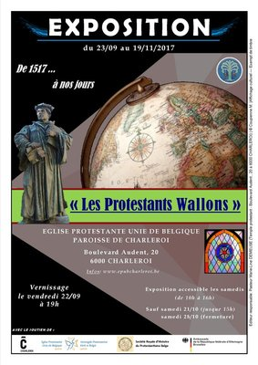 Expositions Exposition : Protestants Wallons 1517 à jours
