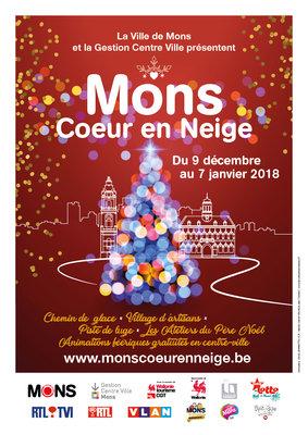 Marchés de Noël Mons Coeur Neige