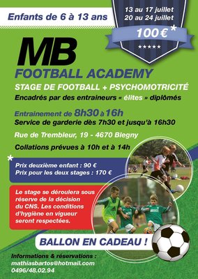 Stages,cours Stage football & psychomotricité