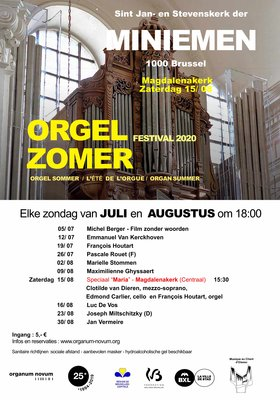 Concerten Brussel, orgel zomer