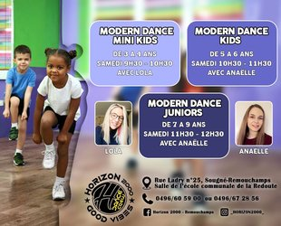 Stages,cours Modern dance Mini Kids - Kids & Juniors