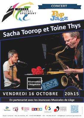 Concerts Concert - Sacha Toorop Toine Thys – Chanson jazz