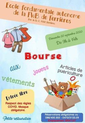 Loisirs Bourse vêtements, jouets articles puériculture