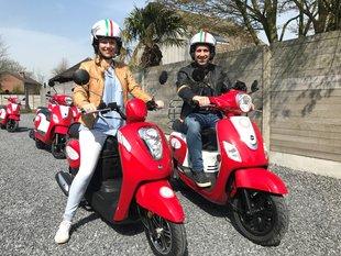 Ontspanning Scooter rijden doorheen Meetjesland