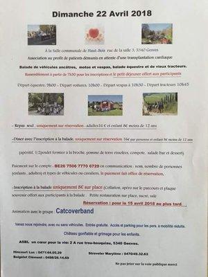 Loisirs Balade Équestre, Rallye voiture ancêtre, moto, tracteur...