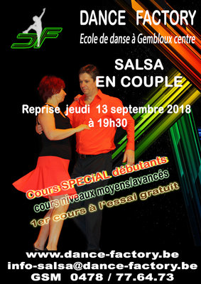 Stages,cours Cours salsa couple)