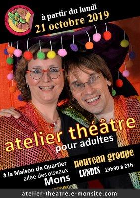 Stages,cours Atelier théâtre pour adultes